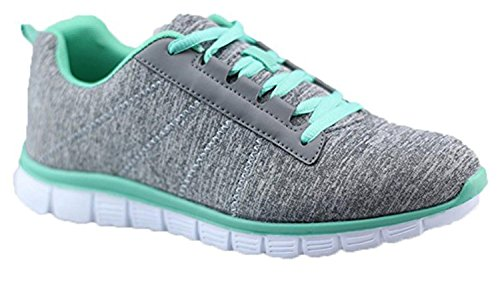 Shop Pretty Girl Womens Athletic Knit Mesh Running Sneaker Light Weight Go Easy Walking Casual Comfort Running Shoes (6, Green)