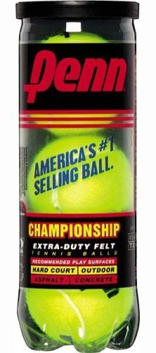 Penn Tennis Balls Hi-Intensity Yellow 3 / Can Pack of 2 cans (total of 6 balls)