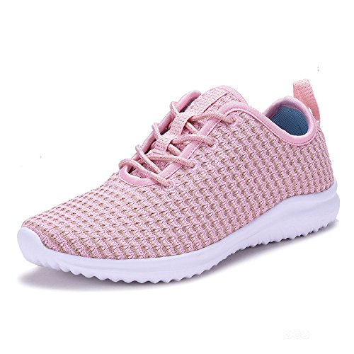Geers YL802 Lightweight Women's Fashion Sneakers Casual Sport Shoes Pink-7